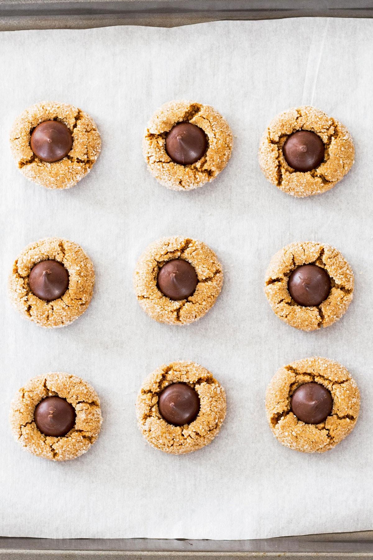 Flourless Peanut Butter Cookies on Baking Sheet