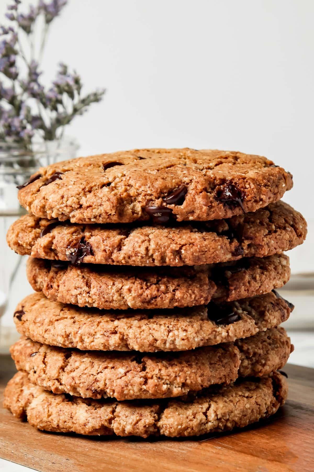 Vegan Almond Cookies Stacked