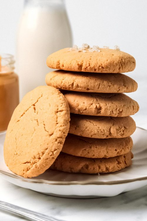 Stack of Peanut Butter Cookies with Coconut Flour