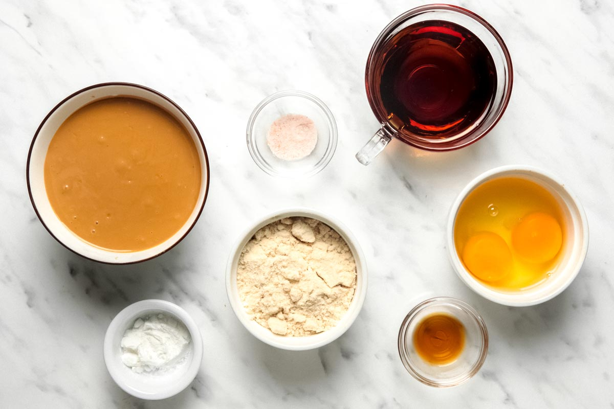 Ingredients for Peanut Butter Cookies with Coconut Flour