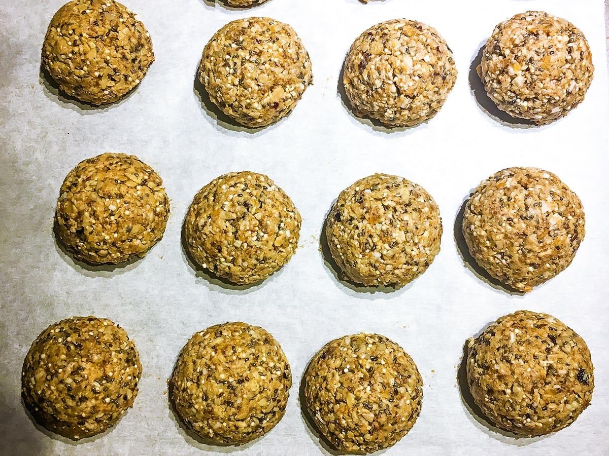 Aussie Bites shaped with cookie scoop