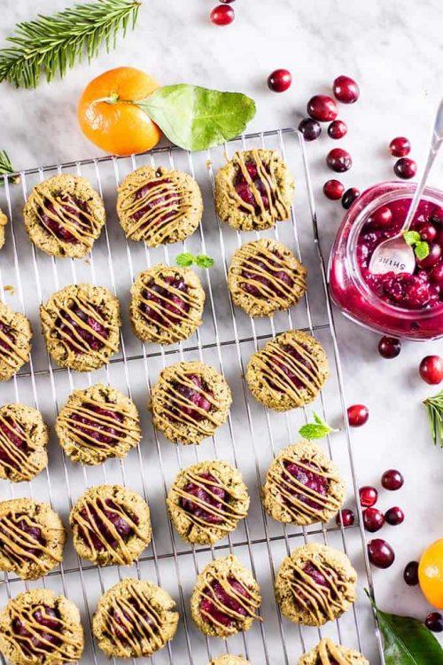 cranberry breakfast cookies on wire rack