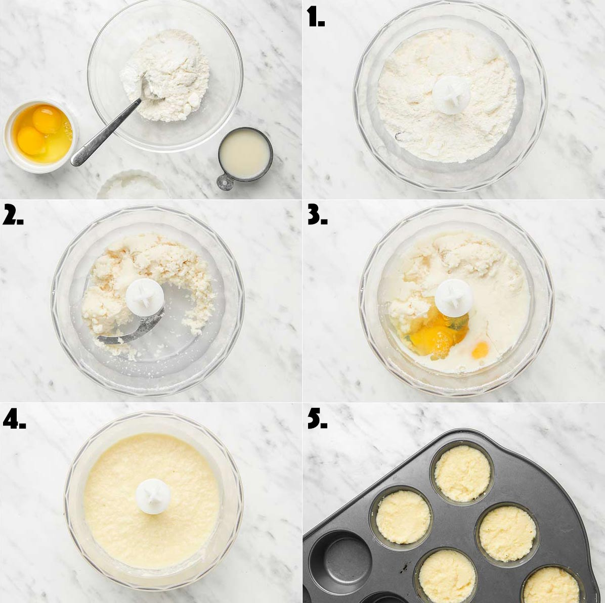 Step by step instructions for how to prepare the coconut flour biscuit batter