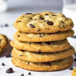 Stack of 5 best ever chocolate chip cookies