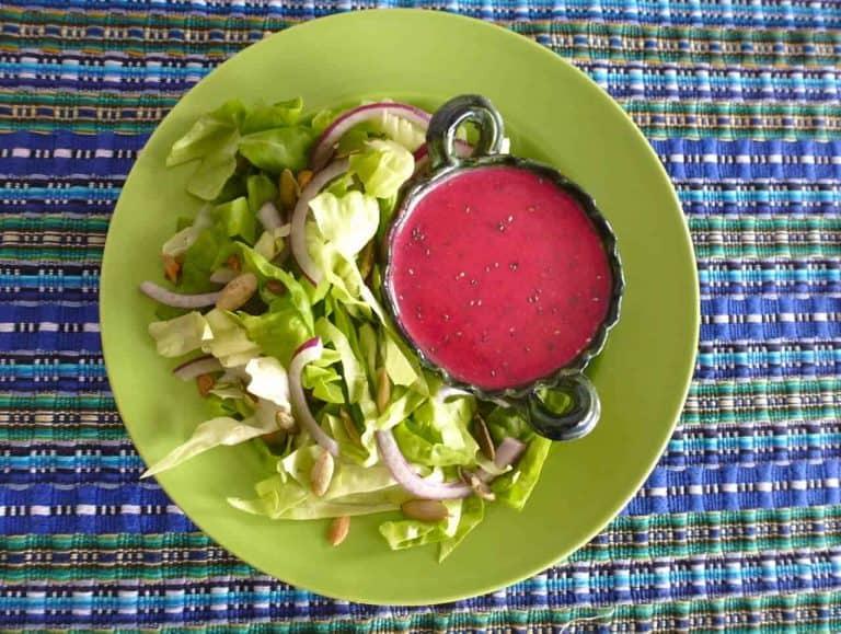 Prickly pear salad dressing