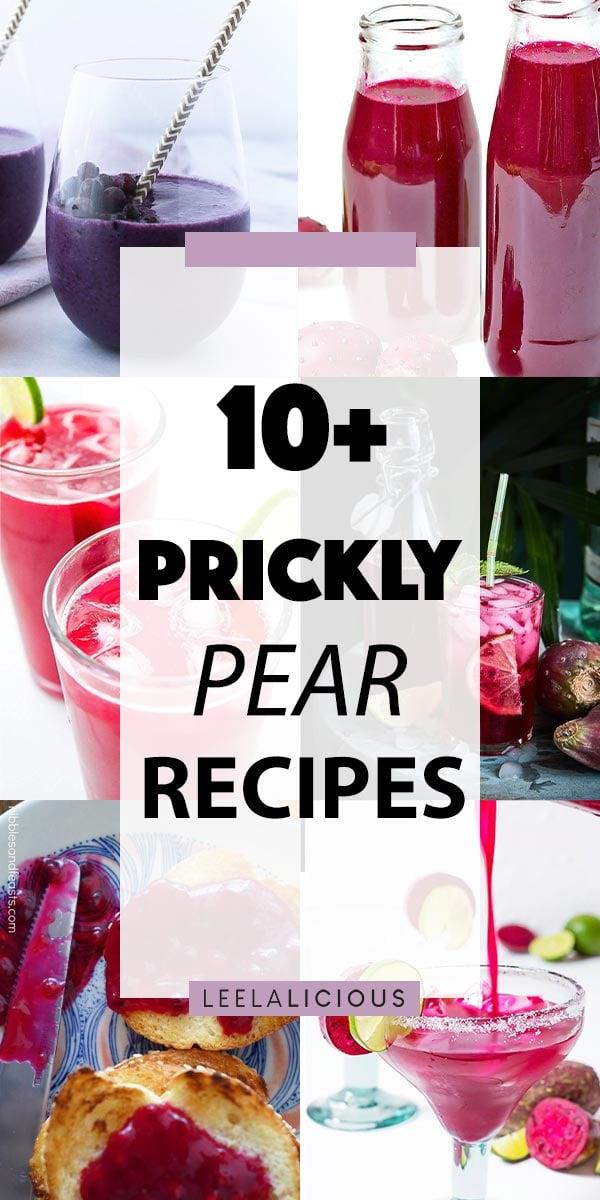 Prickly Pear Recipe Collage